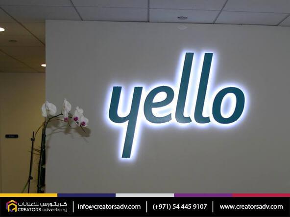 Acrylic LED Signage in Dubai