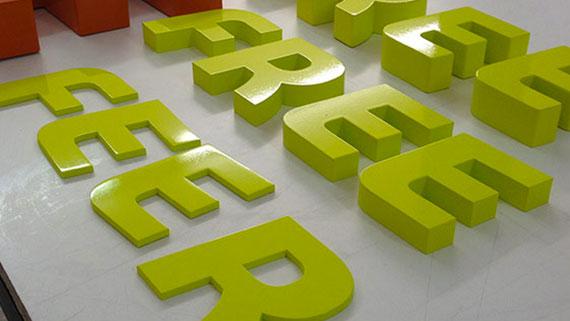 Acrylic powder coated signs