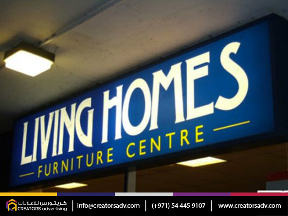 Flex Backlight Sign Board, outdoor sign, shop signage company in Dubai