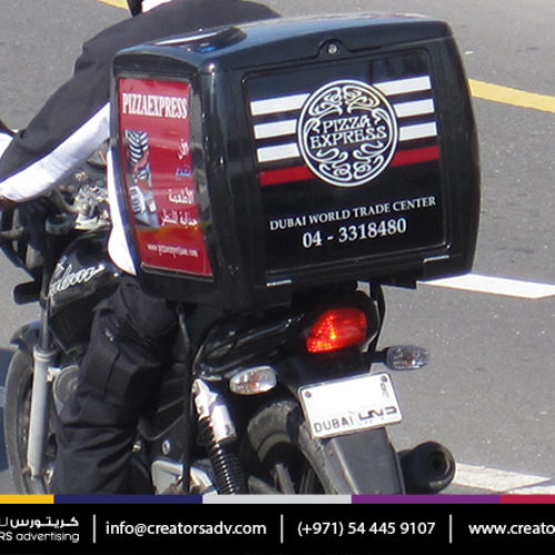 Delivery Motorbike Box Branding Services