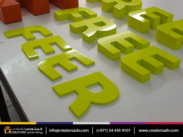 Acrylic Powder coating Signage | Wood Signage | MDF Color Signage