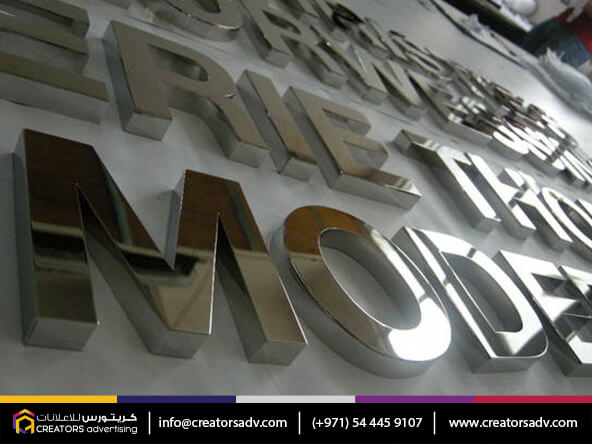 SS Mirror Finish Signage